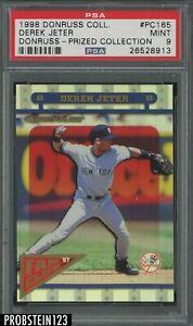 1998 Donruss Prized Collection Derek Jeter New York Yankees HOF PSA 9 MINT
