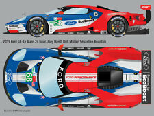 2019 #68 Ford GT retro-livery Le Mans 24hr water transfer decals 1/24 for Revell