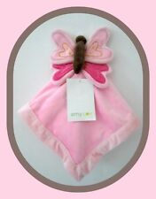 "Amy Coe Baby 3D Pink Butterfly Lovey Plush Snuggle Security Blanket 14 x 14"" NWT"