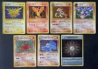 Pokemon Zapdos Moltres & Others Holo Lot WOTC PL-LP (P) Japanese