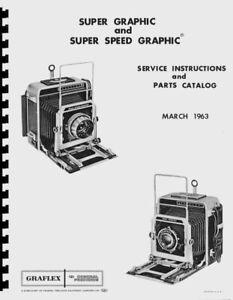 Graflex Super Graphic & Super Speed Graphic 4x5 Cameras Repair Manual Reprint