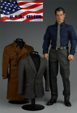 1/6 SUPERMAN Clark Kent Coat Suit Full Set For PHICEN Hot Toys Male Figure ❶USA❶