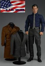1/6 SUPERMAN Clark Kent Coat Suit Full Set For PHICEN Hot Toys Male Figure ❶USA❶