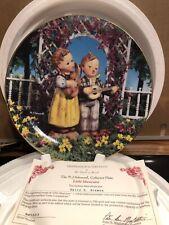 M.J.Hummel Collector Plate Little Musicians Little Companion Series Numbered