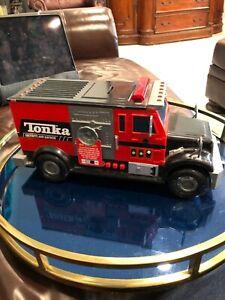 "Mint Tonka Security and Savings Truck Bank Sound Lights 15"" 2009 Hasbro Toy"