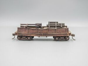 Old Timer Flat Car w/ Wood Sides & Load - HO - Professioanlly Built & Weathered