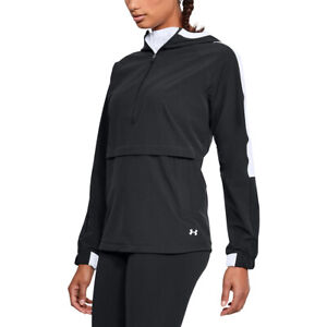 Under Armour UA Ladies Storm Black Woven Hooded Anorak Jacket M