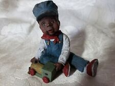 "Sarah'S Attic Black Boy ""Little Engineer"" 1994 Numbered! Xlnt Cond!"