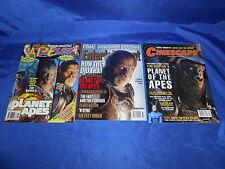 Tim Burton's Planet of The Apes 3 Mag Lot Starlog 289 Ew #607 Cinescape 4/01 Nm