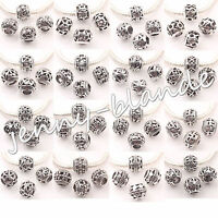 10/20x Tibetan Silver Big Hole Round Loose Spacer Beads Jewelry Making 10mm DIY