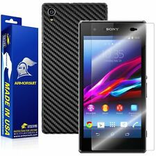 ArmorSuit MilitaryShield Sony Xperia Z1S Screen Protector + Black Carbon Skin
