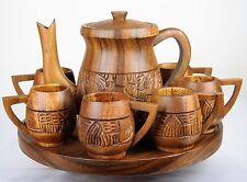 Tea Set Wood Carving