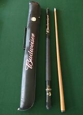 Budweiser two piece pool cue and case