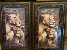 Matching Painted Lion Panels