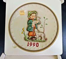 Vintage 1990 Goebel Hummel Collector Plate Shepherd Boy Annual Series W. Germany