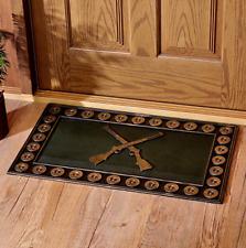 Welcome Mats For Front Door Rubber Floor Shotgun Shells Themed Home Porch Decor
