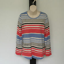 'YARRA TRAIL' BNWT SIZE 'S' ADJUSTABLE LONG SLEEVE STRIPED TOP WITH LOWER POCKET