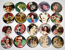 Beautiful Retro Women POCKET MIRRORS x20 Bulk Wholesale Lot