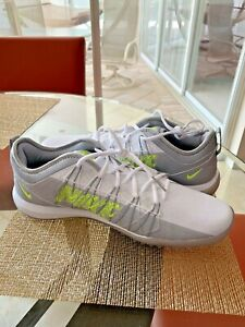 New Mens Nike Alpha Huarache 7 Pro Turf Lax Shoes Size 10. ...White/Grey .$90