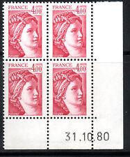 TIMBRE N° 2122 NEUF XX - COIN DATE DU 31-10-80 - TTB - SABINE DE GANDON