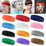 Cotton Sweatband Sports Headbands Athletic Sweat Bands Elastic Hair Bands