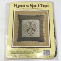 Vtg 1983 Knots So Fine Candlewicking Kit ELIZABETHAN FLORAL Pillow Top NOS NIP