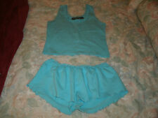 Jammilicious ladies 2pc. blue summer pajama set size small