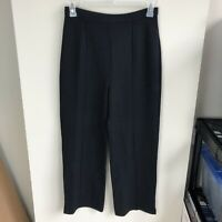 St. John Women's Size 6 Black Santana Knit Elastic Waist Pants Straight Leg