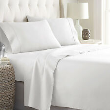 4Pc Bed Sheet Set with 1 Flat Sheet, 1 Fitted Sheet, & 2 Pillowcases (King Size)