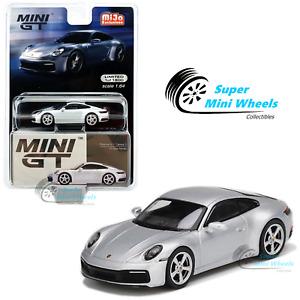 Mini GT 1:64 Porsche 911 (992) Carrera S GT (Silver Metallic) #210