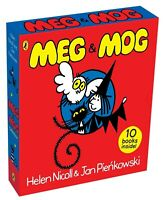 NEW Meg & Mog 10 Books Collection Magical Library Slipcase Classic Kids Gift Set