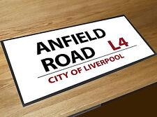 Anfield Road Liverpool Football Street sign bar runner