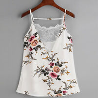 Hot Summer Women Lace Vest Chiffon Top Sleeveless Casual Tank Blouse Top T-Shirt