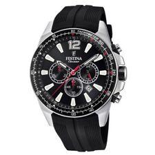 New Festina Men's Chronograph Rubber Strap   f20376/3 Watch