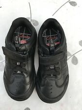 New Clarks Jet Infant Boys Real Leather Black School Shoes Strap 7.5 G UK 25 W