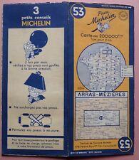 #) carte MICHELIN 53 ARRAS - MEZIERES - 1949