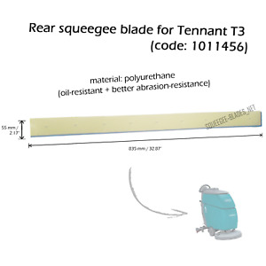 Rear squeegee blade for TENNANT T3 - FREE SHIPPING - HUGE QUANTITY DISCOUNT