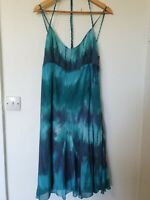 Per Una Chiffon Floaty Tie Dye Lined Midi Dress Size 18 l