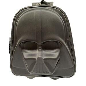 Star Wars Darth Vader 3D Suitcase Disney Store Retractable Handle Light Up Wheel