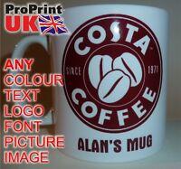 COSTA COFFEE Personalised Printed Name Mug Christmas Birthday Gift Idea Tea Cup