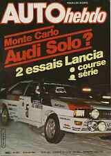 AUTO HEBDO n°251 du 29 Janvier 1981 Rallye Monte Carlo Essais Lancia Monte Carlo