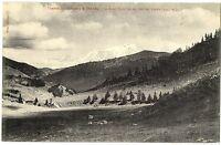 CPA 74 Haute-Savoie Tramway d'Annecy à Thones Mt-Blanc vu du Col des Aravis