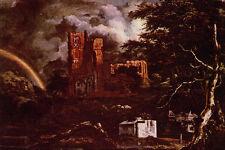 492058 Cemetery At Oudekerk Jacob Van Ruysdael A4 Photo Print