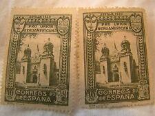 Espagne Tampon 1930 Scott 436 A71 Bleu Architecture Inutilisé