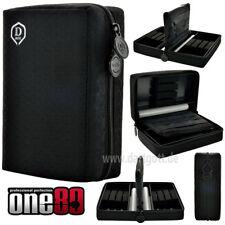 One80 Double Box Dart Pak Darttasche schwarz für 2 Sätze Darts und viel Zubehör