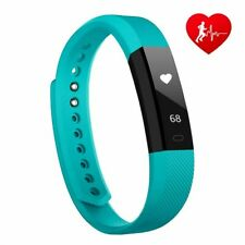Lintelek Activity Tracker, Slim Fitness with Heart Rate Monitor, Step Counter