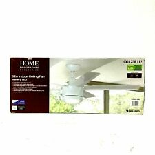 Home Decorator Merwry Indoor Ceiling Fan, Dimmable LED, Remote Control, 52 inch