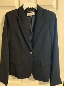 Calvin Klein Ladies' Tailored Pinstripe Suit Jacket Sz 8P