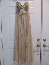 SHERRI HILL Strapless Gold Long Dress Size 8