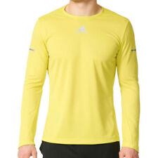 Maglie e top da uomo gialli lunghi per palestra , fitness , corsa e yoga